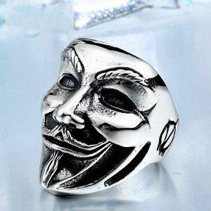 COPY - Guy Fawkes ,V for Vendetta men's ring, 11
